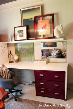 desk over dresser - space saving