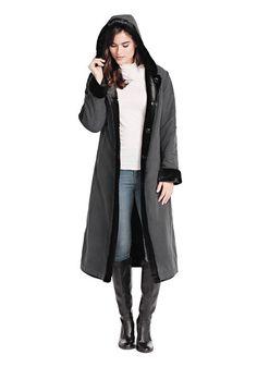 2c034686f1757 Black Reversible Storm Faux Fur Coat | Womens Faux Fur Coats