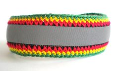 Reflector Rasta anklet crochet cotton safety by MultiKultiCrafts, €13.00This reflective Rasta anklet for men and women helps you to keep yourself visible and thus safe in the traffic. It is great gift for your kids and little nieces and nephews who live in the area, where it gets dark early. Ready to ship within 1-3 days.