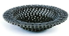 Upcycled Bike Chain Bowl Designed by Resource Revival Recycled Bike Parts, Bicycle Parts, Eco Design, Clever Design, Modern Design, Vases, Home Decor Sale, Bike Chain, Old Bikes