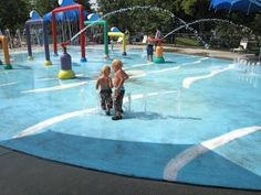 Oak Hill Splash Pad in St. Louis Park. Great for little kids and bigger kids. Nice playground too. Free.