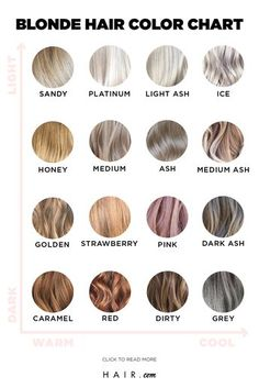 We have the ultimate blonde hair color chart for you. Check it out to see all th. - We have the ultimate blonde hair color chart for you. Check it out to see all the different shades! Blonde Hair Shades, Hair Color Shades, Brown Blonde Hair, Hair Colour, Toning Blonde Hair, Fall Blonde Hair Color, Black Hair, Hair Color Balayage, Blonde Balayage