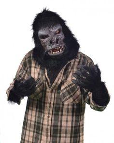 Two Bit Roar Collar Kit SKU K1M4507 Two Bit Roar Collar Kit includes; Two Bit Roar Mask Black Fur Collar and Gorilla Hand Gloves. Zagone Masks u0026 Costumes ...  sc 1 st  Pinterest & Full Action Gorilla Gloves | Pinterest | Gloves and Costumes