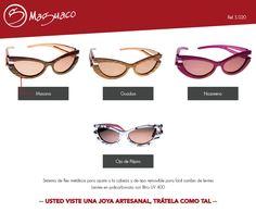Gafas de sol en madera con filtro UV marca Maguaco S020. $200.000 COP
