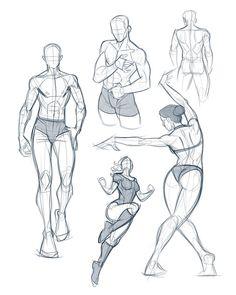 Some morning anatomy warm-ups ? Hope ever… – Art Sketches Anatomy Drawing Practice, Human Anatomy Drawing, Human Figure Drawing, Figure Sketching, Figure Drawing Reference, Art Reference Poses, Drawing Skills, Drawing Poses, Drawing Proportions