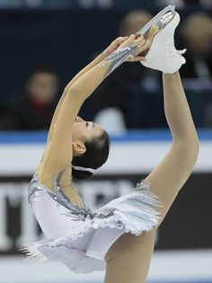 Asada Mao, of Japan, skates her free program at the ISU figure skating Grand Prix Final event, at Iceberg stadium in Sochi, Russia, on Saturday, Dec. 8, 2012.