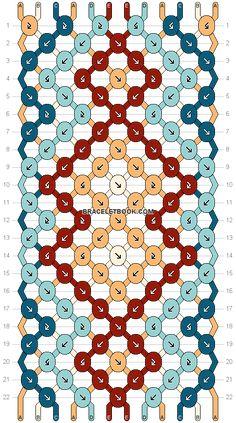 Normal friendship bracelet pattern added by diamonds diamond aztec tribal triangle illusion. Thread Bracelets, Diy Bracelets Easy, Embroidery Bracelets, Summer Bracelets, Bracelet Crafts, Loom Bracelets, Macrame Bracelets, Diy Bracelet Designs, String Bracelets