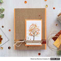 It is hard to believe that Autumn already started, and before we know it, we will be enjoying the season's celebrations. Today I am sharing a card that I created using  a wonderful set called Color Layering Fall Trees, perfect for this time of the year.