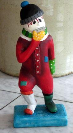 Newfoundland art artist Fred - a Mummer by Cara's Joy, Upper Island Cove Newfoundland Canada, Newfoundland And Labrador, Applique Templates, Christmas Ornament, Christmas Decorations, Xmas, Rug Hooking, Types Of Art, Quilt Making