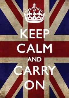 流传最广的英文海报--KEEPwbrCALMwbrandwbrCARRYwbrON