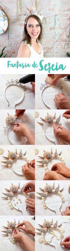 Aprenda a fazer uma fantasia de sereia para o Carnaval