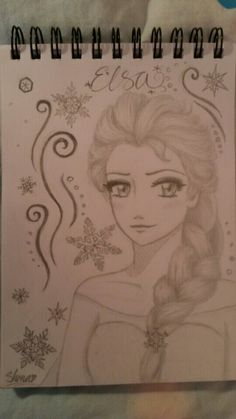 Manga version of Elsa from Frozen♡ by Shona ♥