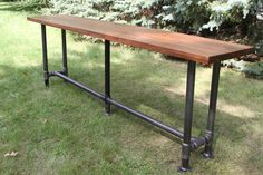 The Foundry Table Reclaimed Bar Table Hardwood by iReclaimed