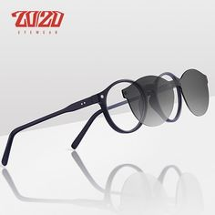 61c9325879 20 20 Brand Classic Clip On Sunglasses Men Women Magnet Eyewear Glasses  Frames Tr90 Optical Glasses Frame Tr136