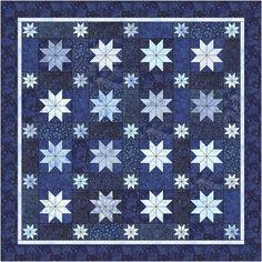 Quilt ki tStarry Night  http://www.abbimays.com/Quilt-Kit-TOP-Starry-Night-by-Kathryn-Gray-Free-Pattern_p_5934.html