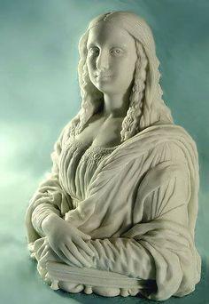 Mona lisa by Leonardo da Vinci and Francesco del Giocondo 1495 Mona Lisa Parody, Mona Lisa Smile, Famous Art, Italian Artist, 2d Art, Sculpture Art, Statues, Fantasy Art, Photoshop