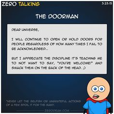 The doorman #ZeroTalking