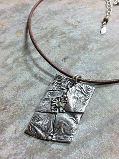 M*Jewelry / necklace / mosaic / peridot / sterling silver
