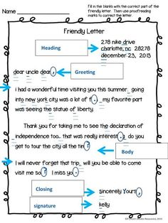 Parts of a friendly letter handout writing pinterest friendly teaching the friendly letter free resource included spiritdancerdesigns Choice Image