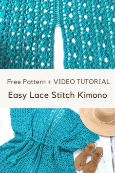 Crochet lacy days kimono free knitting and crochet patterns lion brand yarn Pull Crochet, Mode Crochet, Single Crochet Stitch, Basic Crochet Stitches, Crochet Basics, Crochet Yarn, Tunisian Crochet, Free Lace Crochet Patterns, Crochet Feathers Free Pattern