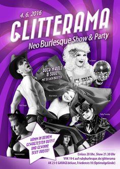 Glitterama Burlesque Show & Party in München am 4. 6. 2016
