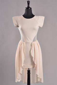 Impressive Sheer High Low Dress