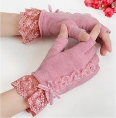 semi-finger lace lucy refers to thermal wool gloves autumn and winter 2012 women's mittens