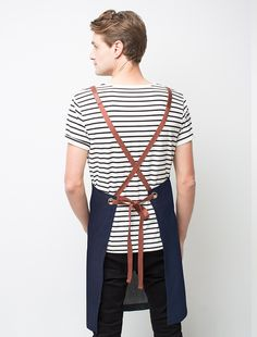 A fresh take on our range of Henry cross back aprons, our Henry Bib Apron in Marine is crafted from durable cotton canvas Waiter Uniform, Uniform Shop, Hotel Uniform, Leather Apron, Pu Leather, Restaurant Uniforms, Staff Uniforms, Personalized Aprons, Apron Designs