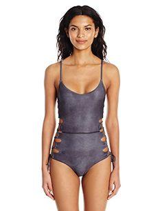 Women s Suede Nightfall One Piece Swimsuit Black Swimsuit 6c7e681a0