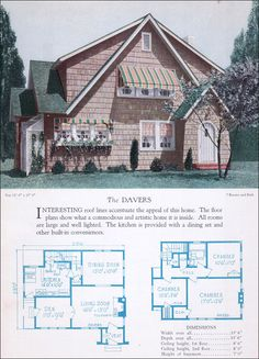 Catalog Houses From The 1920S | 1920s Modernized Colonial House Plan - The Davers - 1928 Home Builders ...