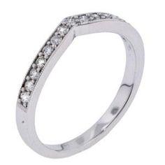 Arthurs Collection Diamond Prong Set White Gold Womens Wedding bands RAD-16858 #ArthursJewelers