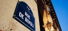 Rue de Rivoli, Paris, Straßenschild