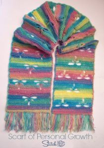scarf-of-personal-growth:FREE crochet pattern