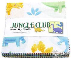 Jungle-Club-Charm-Pack-by-Blue-Sky-Studio-for-Benartex-Fabrics-SKU#-JC5X5PK