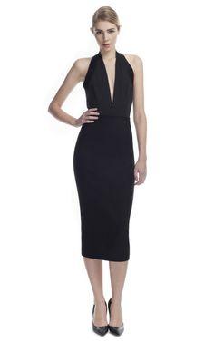Donna Karan Black High Waisted Straight Skirt on Moda Operandi