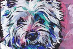 West Highland Terrier westie art print pop dog by BentNotBroken, $22.99