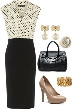 I love this but I would rock this dress with red heels and a red clutch.
