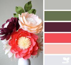 { paper flora } image via: @paperave  #color #palette #colorpalette #pallet #colour #colourpalette #design #seeds #designseeds #seedscolor