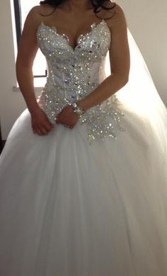 wedding ball gown with sweetheart neckline and bling - Google Search