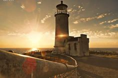 Beautiful photo of Northhead Lighthouse  Ilwaco, Washington