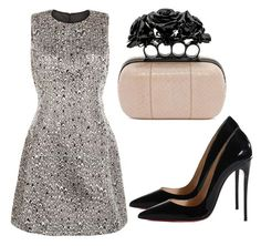 """""""Untitled #2642"""" by evalentina92 ❤ liked on Polyvore featuring AX Paris, Alexander McQueen and Christian Louboutin"""