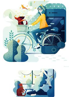 Showcase and discover creative work on the world's leading online platform for creative industries. Illustration Design Plat, Illustration Mignonne, Heart Illustration, Character Illustration, Digital Illustration, Autumn Illustration, Fanart, Affinity Designer, Illustrations And Posters