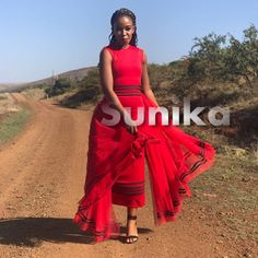 Modern Xhosa Traditional Dresses Latest Designs - Sunika Traditional African Clothes Zulu Traditional Attire, South African Traditional Dresses, Traditional Outfits, African Fashion Ankara, Latest African Fashion Dresses, African Print Fashion, African Prints, Xhosa Attire, African Attire