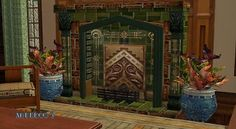 Mod The Sims - Deco, Nouveau, and Arts and Crafts Fireplaces