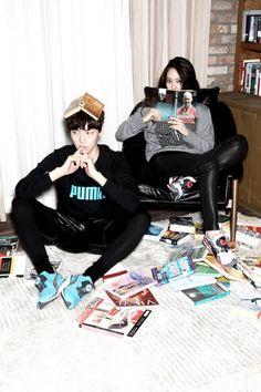 f(x) Krystal and Ahn Jae Hyun - Puma