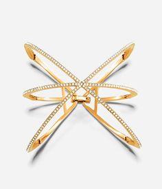 Luxe Pave Orbital Cuff Bracelet | Jewelry | Henri Bendel