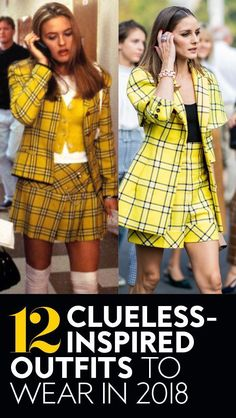 12 of cher's clueless outfits that are still on trend fashio Cher Clueless Outfit, Clueless Fashion, 90s Outfit, Clueless Style, Dope Fashion, 90s Fashion, Fashion Outfits, Plaid Outfits, Trendy Outfits