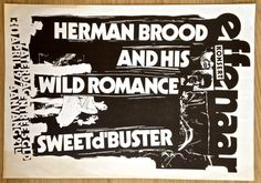 Concert Poster Herman brood and his Wild Romance - 1977 - Catawiki Online Auctions