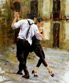 Latin and Ballroom Dance Dresses Tango Art, Tango Dance, Rock Lee, Shall We Dance, Lets Dance, Danse Salsa, Dance Baile, Art Watercolor, Dance Paintings