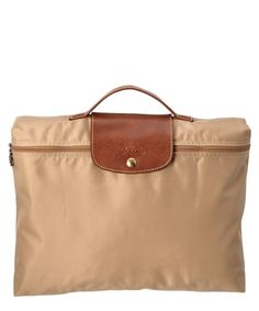 Longchamp Le Pliage Nylon Document Holder' In Beige Milan Fashion Weeks, New York Fashion, Designer Purses, Designer Handbags, Longchamp, Document Holder, Crossbody Bag, Tote Bag, Replica Handbags